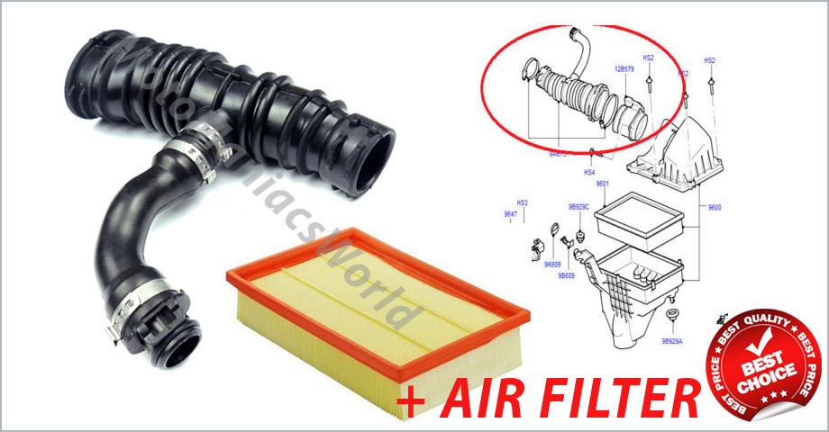 Ford focus 2 2004 c max 2006 filtro aria flusso tubo for Filtro aria abitacolo valanghe 2004 chevy