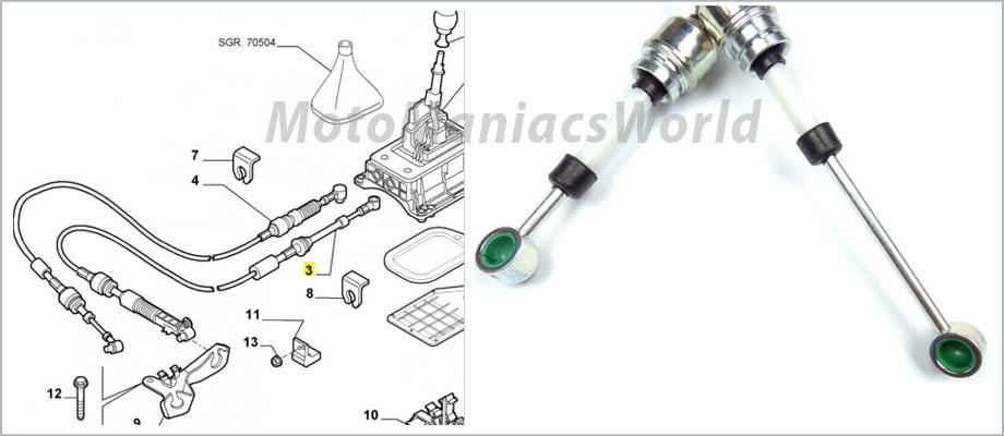 fiat punto 2 mk2 mk2b caja de cambios cable conexi u00f3n lado