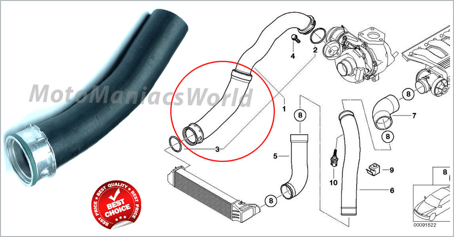 bmw 3 e46 318d 320d m47n m47 turbo intercooler hose pipe 11617786865 new ebay. Black Bedroom Furniture Sets. Home Design Ideas