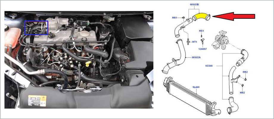ford focus 2 mk2 fl c max 1 6 tdci 115 hp turbo. Black Bedroom Furniture Sets. Home Design Ideas